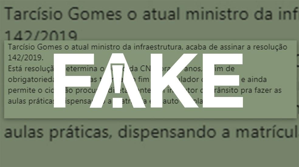 Mensagem falsa tem se espalhado no WhatsApp — Foto:  G1