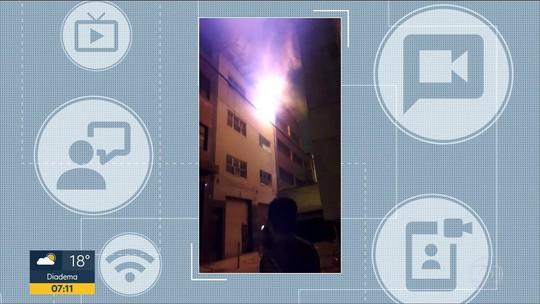 Incêndio atinge comércio no Brás, região central de São Paulo