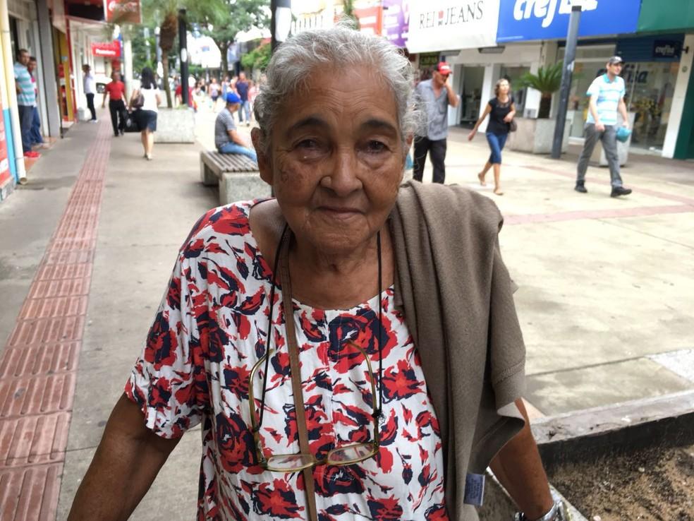 Maria Sahada Abrahão, de 86 anos, aposentada (Foto: Valmir Custódio/G1)