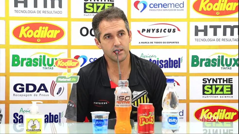 Léo Condé, técnico do Novorizontino  — Foto: Reprodução/YouTube
