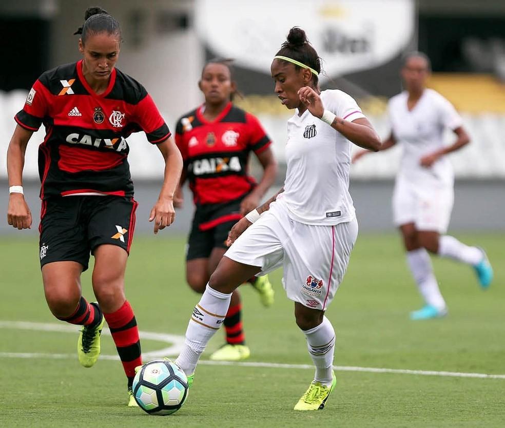 Desde que o Brasileiro Feminino ganhou uma segunda divisão, Santos e Flamengo disputam a Série A1 — Foto: Pedro Ernesto Guerra/Santos FC