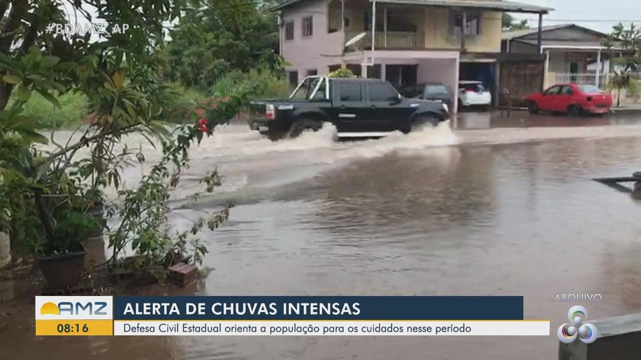 Defesa Civil Estadual alerta para alta na incidência de chuvas fortes em janeiro no AP