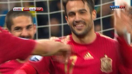 Classificada, Espanha vence por 1 a 0 e empurra Ucrânia à repescagem