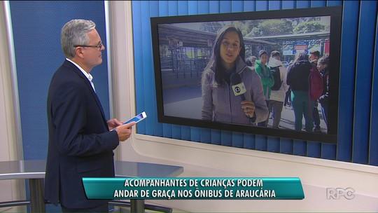 Prefeitura de Araucária estende passe livre no transporte para acompanhantes de alunos de até 12 anos
