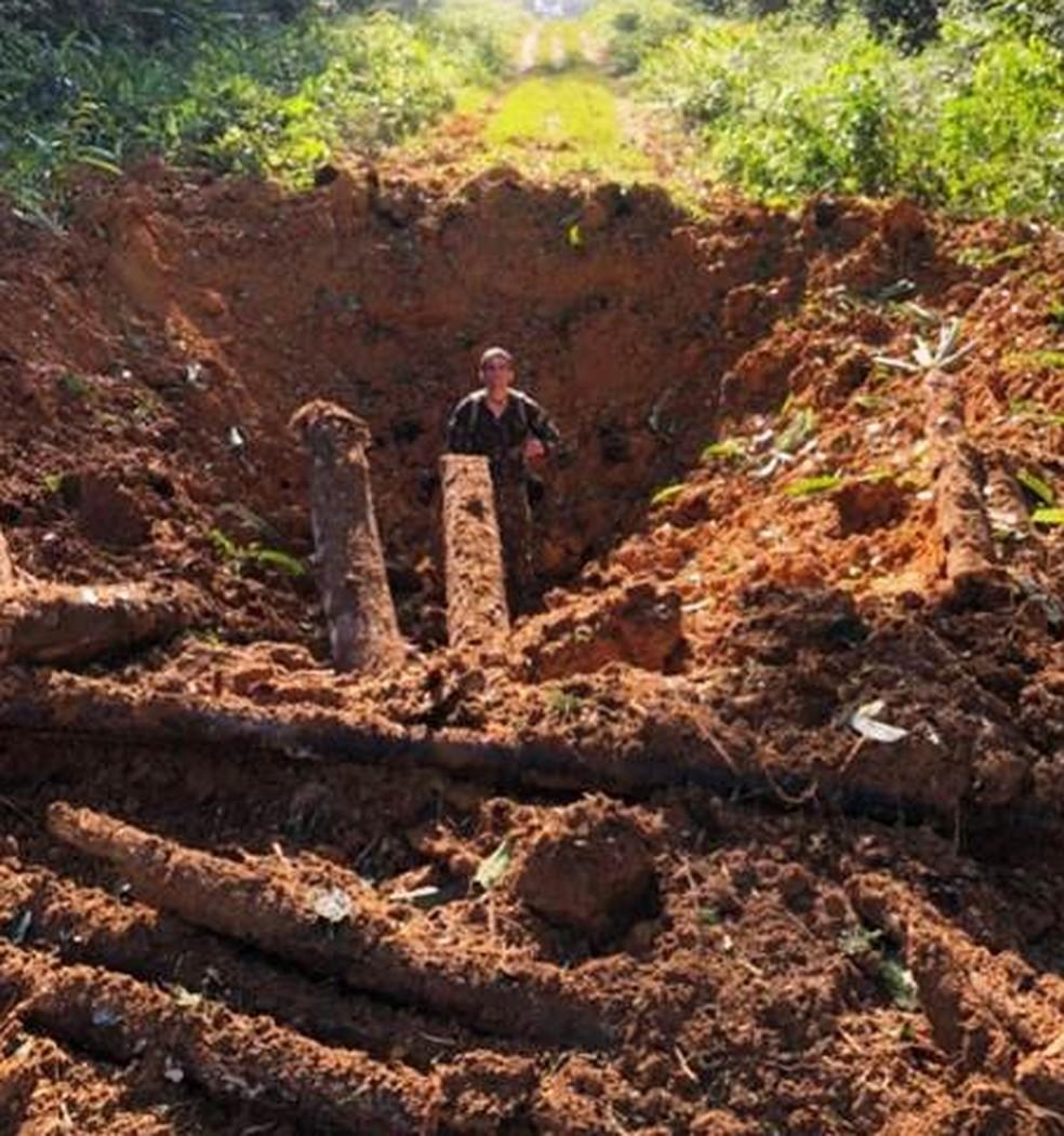 Pista de pouso foi implidida durante operação Curare IX (Foto: 1ª Brigada de Infantaria de Selva/Divulgação)