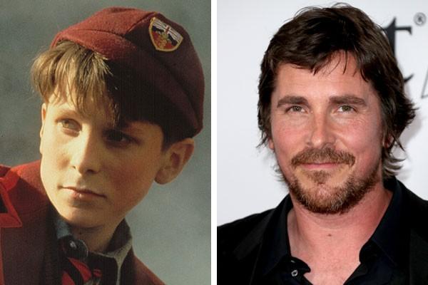 O ator Christian Bale na adolescência e hoje (Foto: Reprodução/Getty Images)