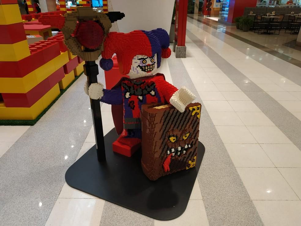 Escultura de Lego, no DF. — Foto: Divulgação/Casa Lego
