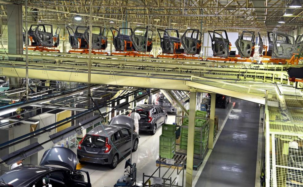 Linha de produção da Honda, em Sumaré, SP — Foto: Caio Mattos/Divulgação Honda