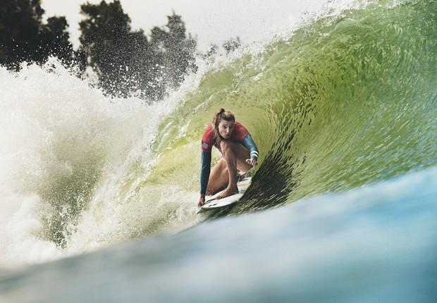 Etapa do Circuito Mundial de Surfe, na Califórnia, foi disputada nas ondas artificiais criadas por Kelly Slater, maior nome da modalidade. (Foto: Reprodução/WSL)