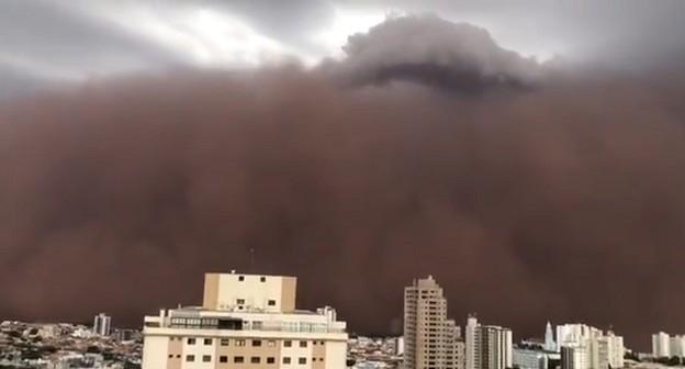 Entenda como se formou a tempestade de poeira que atingiu o interior de SP
