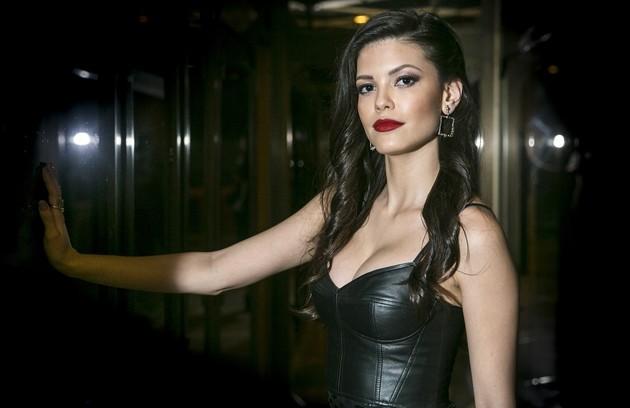 É Vitória Strada, que fez sua estreia na TV este ano com a personagem Maria Vitória (Foto:  Raphael Dias/Gshow)