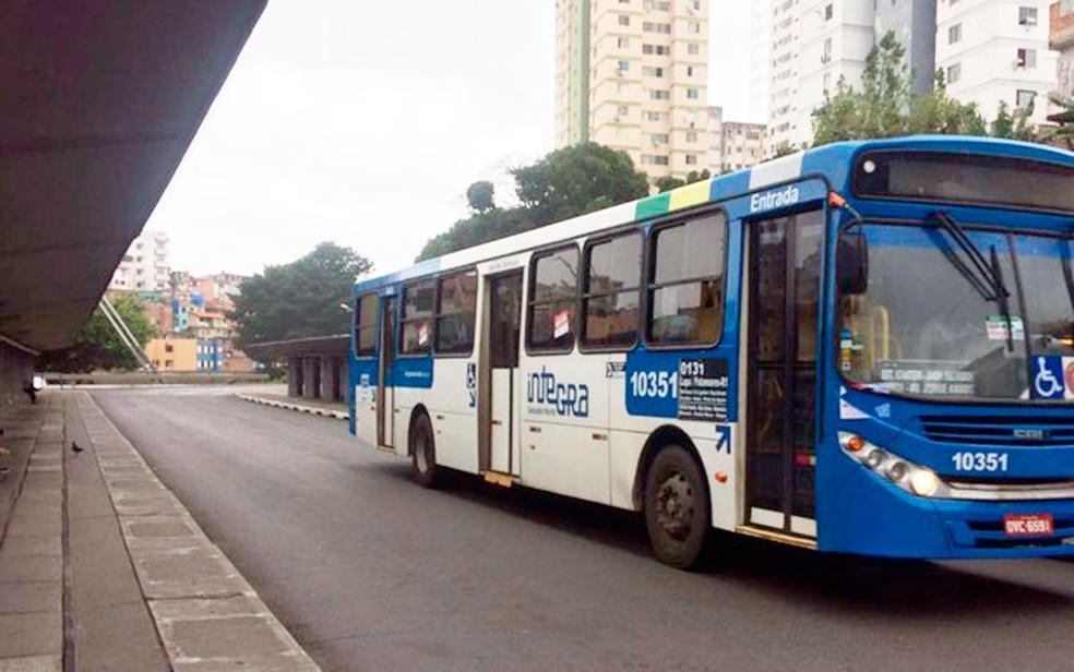 Todas as linhas de ônibus de Salvador serão integrados ao metrô a partir desta quinta (Foto: Henrique Mendes/G1)