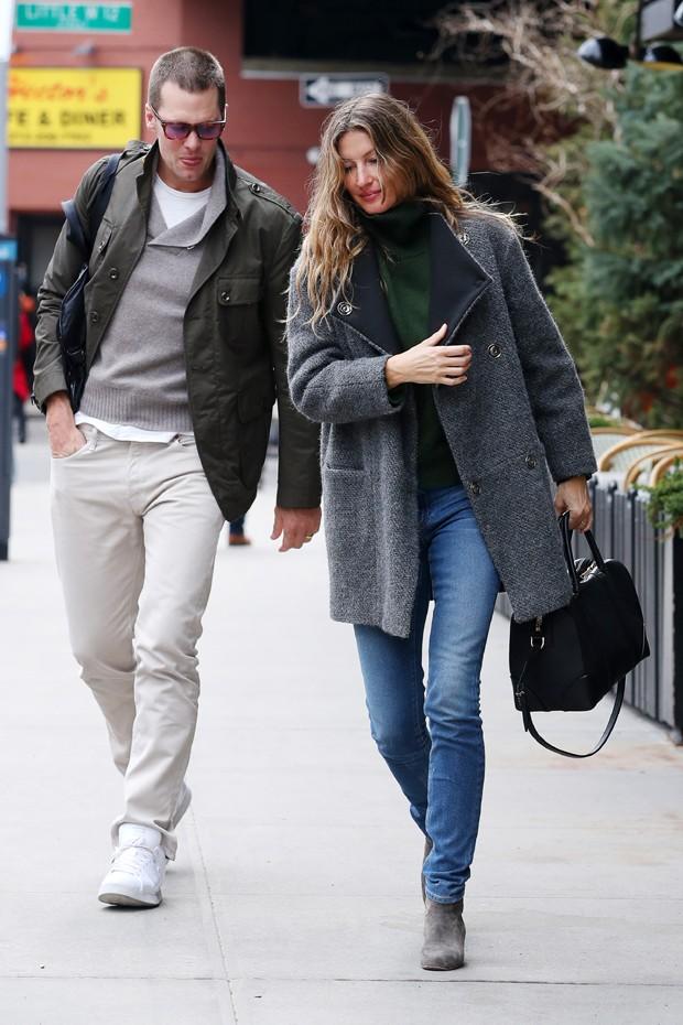 Tom Brady e Gisele Bündchen (Foto: Grosby Group)