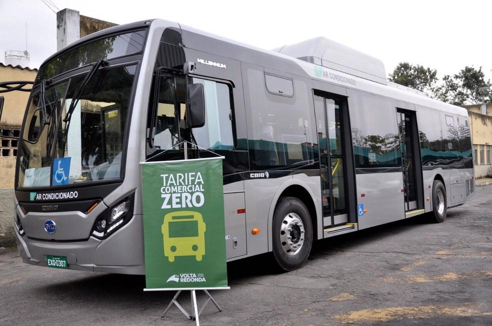 Ônibus elétrico começa a circular na próxima segunda-feira em Volta Redonda (Foto: Geraldo Gonçalves/PMVR)