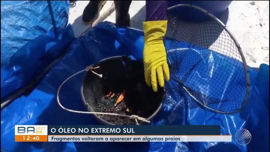 Para evitar que manchas de óleo cheguem a praias na Bahia, pescadores fazem monitoramento no mar por conta própria