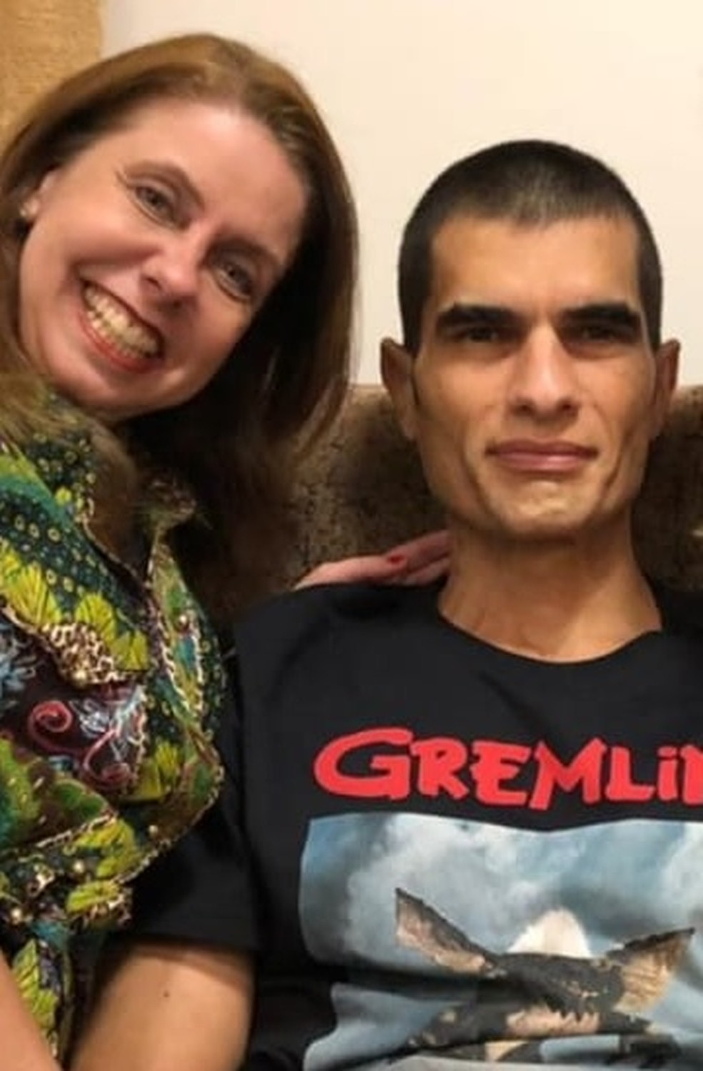 Flávia Shayer doou o rim para o marido Cristiano Gomes — Foto: Arquivo pessoal/ Flávia Shayer