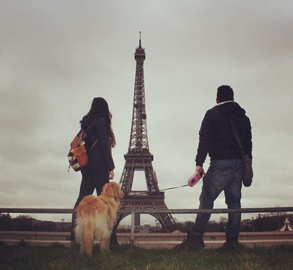Passeio em Paris — Foto: Talita Meurer Alberti/ Arquivo pessoal