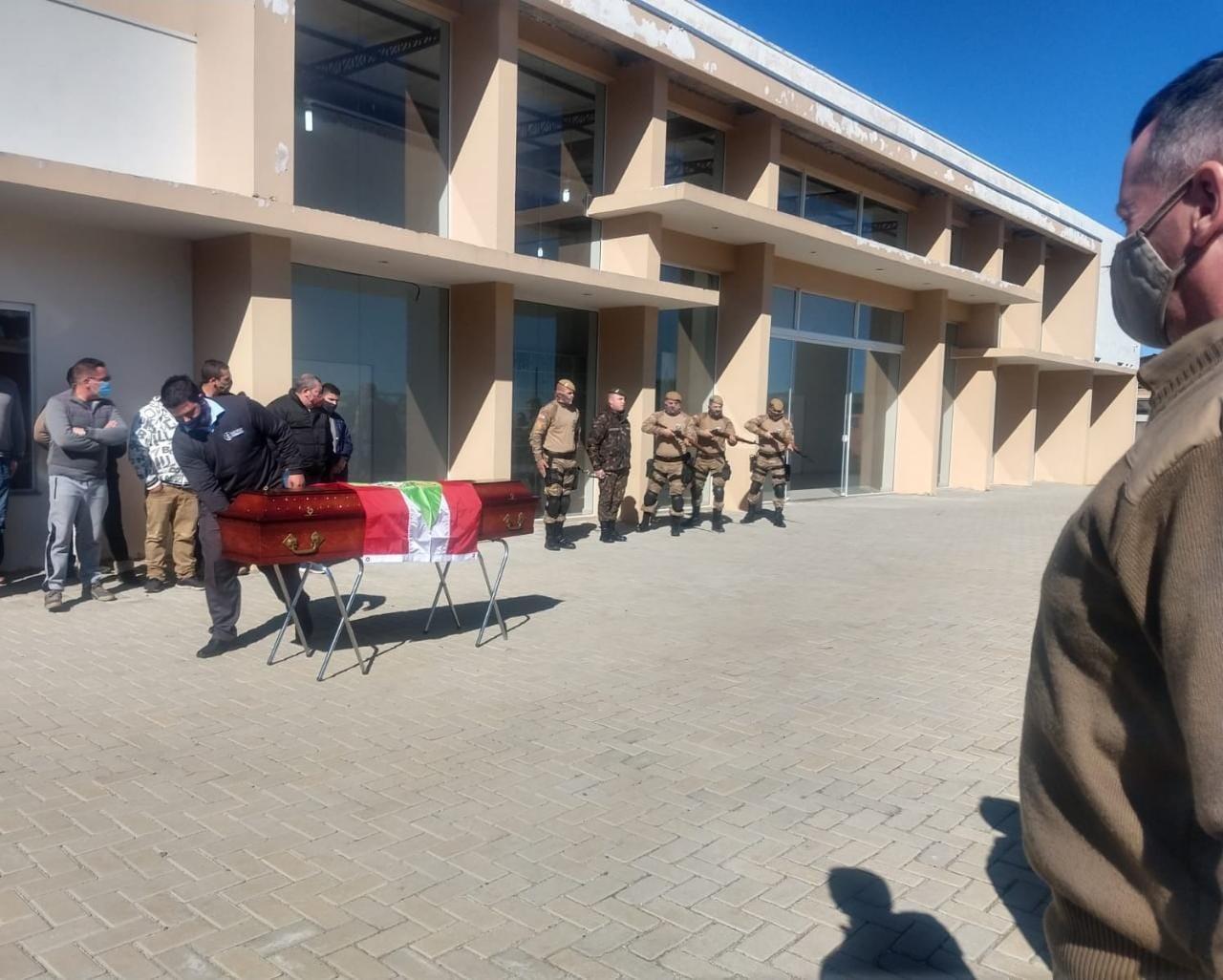 Policial militar que morreu em acidente com pista congelada é homenageado por colegas de corporação em SC