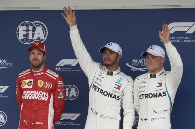 Hamilton crava mais uma pole e faz história em Interlagos (Foto: Divulgação)