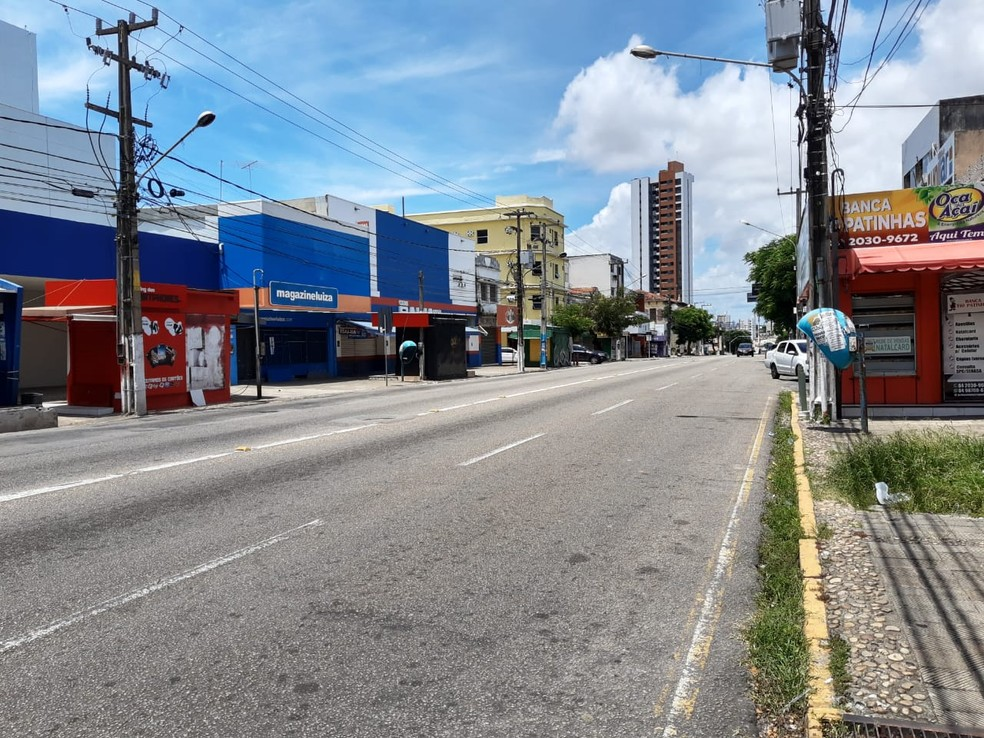 Avenida Rio Branco, no centro de Natal (Arquivo) — Foto: Lucas Cortez/Inter TV Cabugi