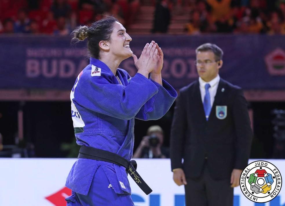 Mayra Aguiar é esperança do Brasil — Foto: Marina Mayorova/IJF