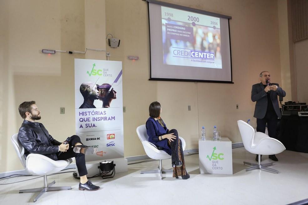Nivaldo Rizzotto apresentou a história do Center Shopping Araranguá (Foto: José Somensi/Divulgação)