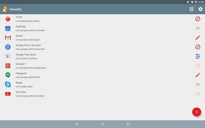 Denotify é um aplicativo para controlar notificações no Android (Foto: Divulgação)