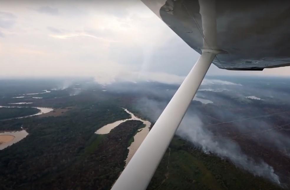 Incêndio no Pantanal de MT — Foto: Sesc Pantanal