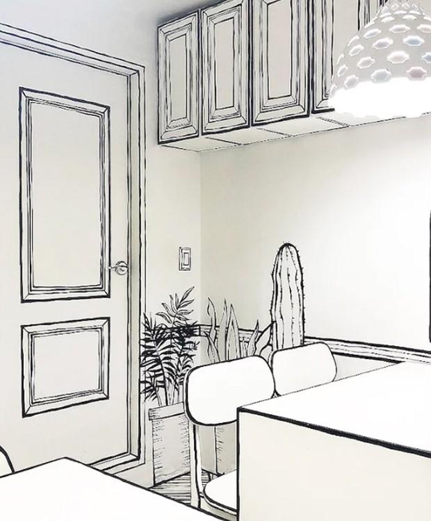 Pela imagem, é quase impossível dizer se a porta é real ou apenas um desenho (Foto: Instagram/ Reprodução)