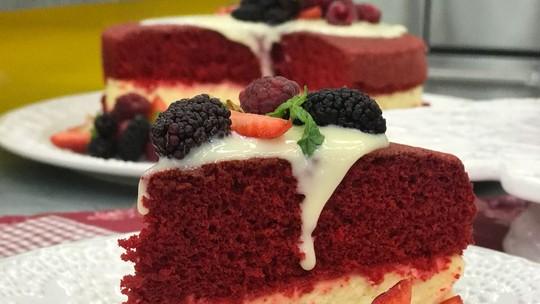 Red Velvet com Cheesecake