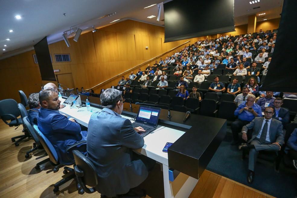 Seminário de gestão reuniu cerca de 250 pessoas na Arena — Foto: Lucas Uebel/Grêmio/Divulgação