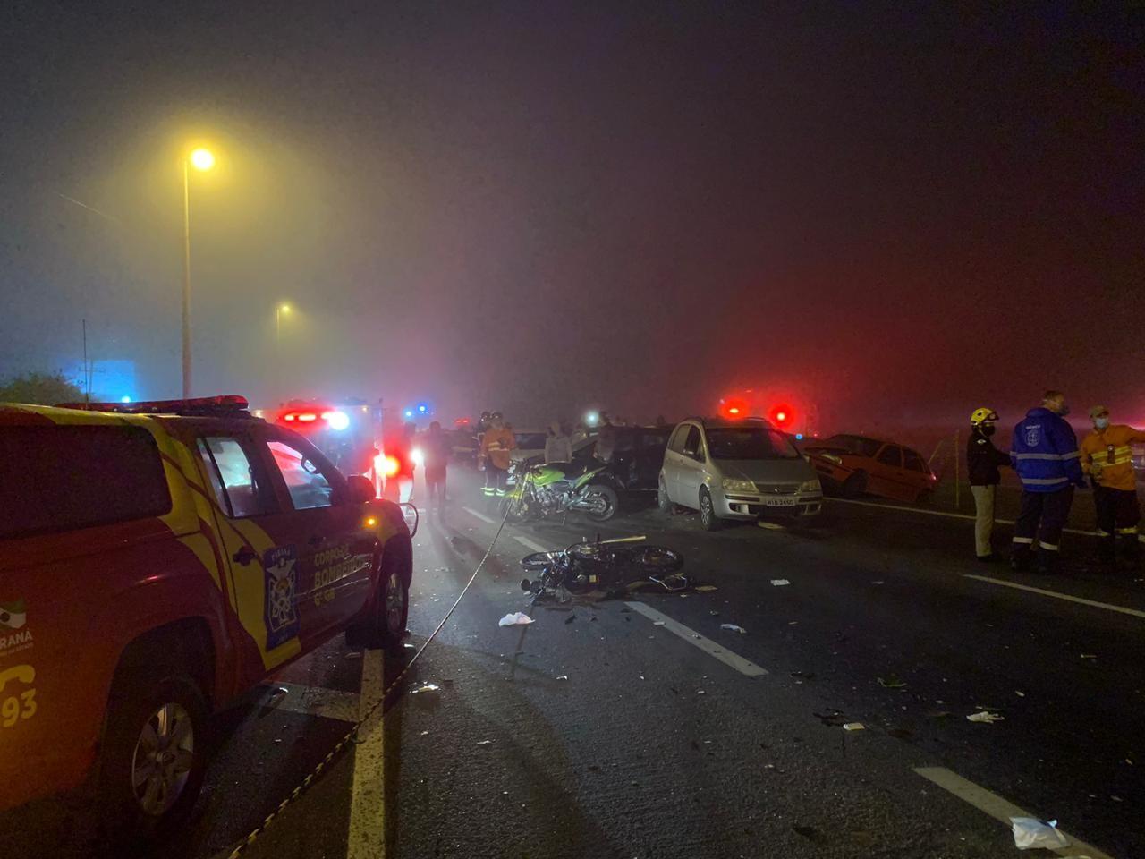 Tragédia na BR-277: Trecho é interditado pela segunda vez consecutiva por causa da falta de visibilidade