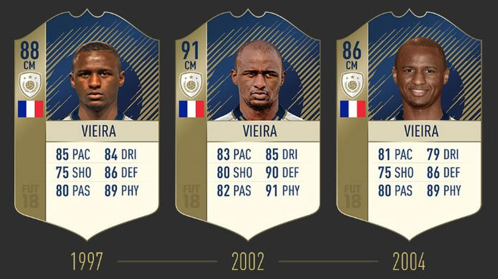 FIFA 18: confira as três cartas de Vieira (Foto: Divulgação / EA)