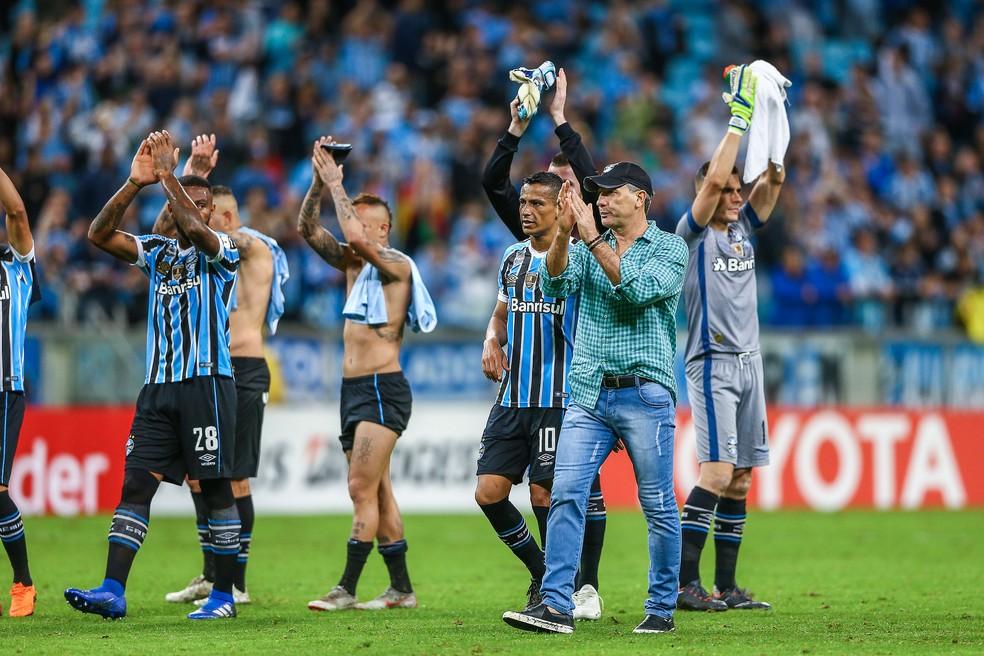 Time principal seguirá atuando no Brasileirão — Foto: Lucas Uebel / Grêmio, DVG
