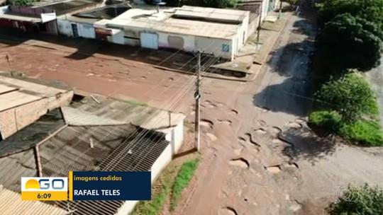 Estudante filma com drone ruas de Planaltina tomadas por buracos, e imagens impressionam na web; vídeo