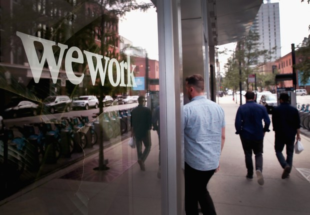 Escritório do WeWork em Chicago, nos Estados Unidos (Foto: Getty Images)