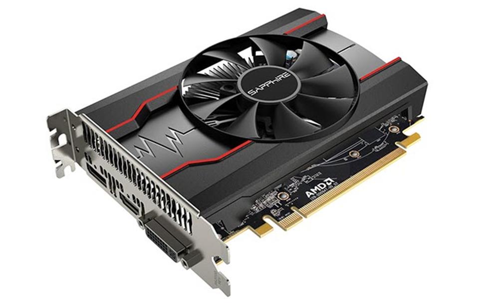 Radeon RX 550 tem especificações de memória superiores — Foto: Divulgação/Sapphire