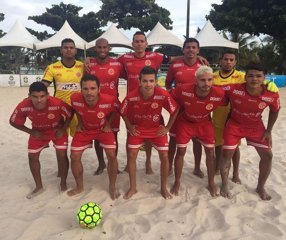 Com o vice da etapa Norte-Nordeste, América-RN garante vaga na fase final da Copa do Brasil de Beach Soccer (Foto: Thaís Carvalho/CBSB)