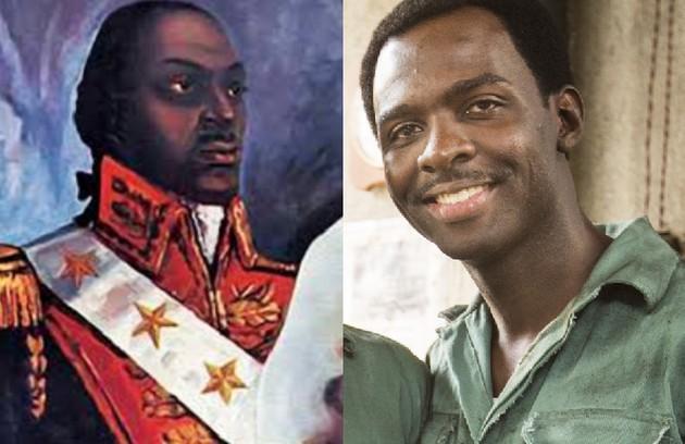 Izak Dahora terá o papel de Toussaint Louverture, líder da Revolução Haitiana (Foto: Reprodução e Globo)