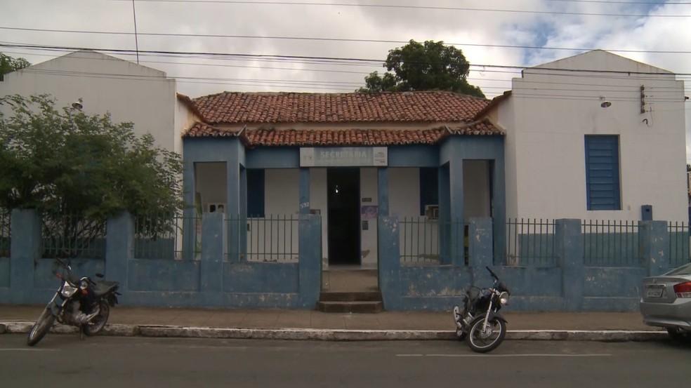 Secretaria Municipal de Saúde de Floriano, no Sul do Piauí — Foto: Reprodução/TV Clube
