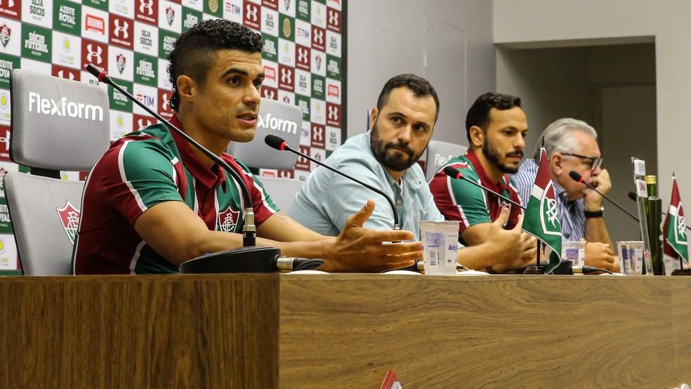 Egídio, Mário Bittencourt, Yago e Paulo Angioni — Foto: Lucas Merçon