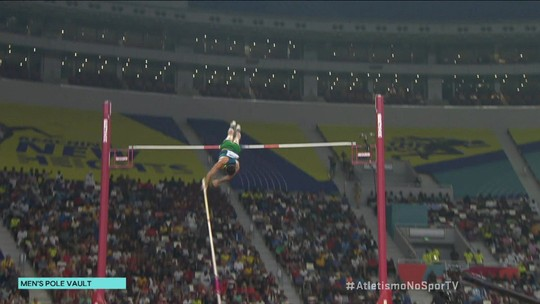 Thiago Braz erra a sua terceira e última tentativa de 5,80m na final do salto com vara no Mundial de Atletismo