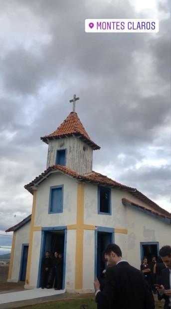 Igreja do Morrinhos pronta para o casamento de Barbara Fialho e Rohan Marley neste sábado (23.03) (Foto: Reprodução/Instagram)