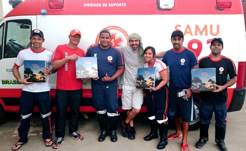 Rui visitou equipe do Samu em Barreiras — Foto: Arquivo Pessoal
