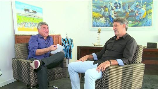 "Cléber Machado entrevista Renato Gaúcho no quadro ""1x1"""