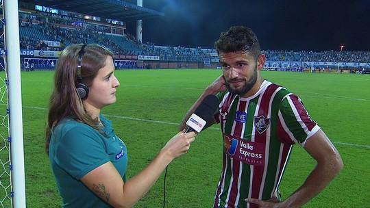 Jadson fala de peso da eliminação do Fluminense na Copa do Brasil