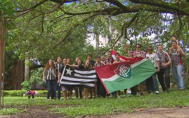 Torcida Botafogo x Fluminense (Foto: Reprodução/TV Globo)
