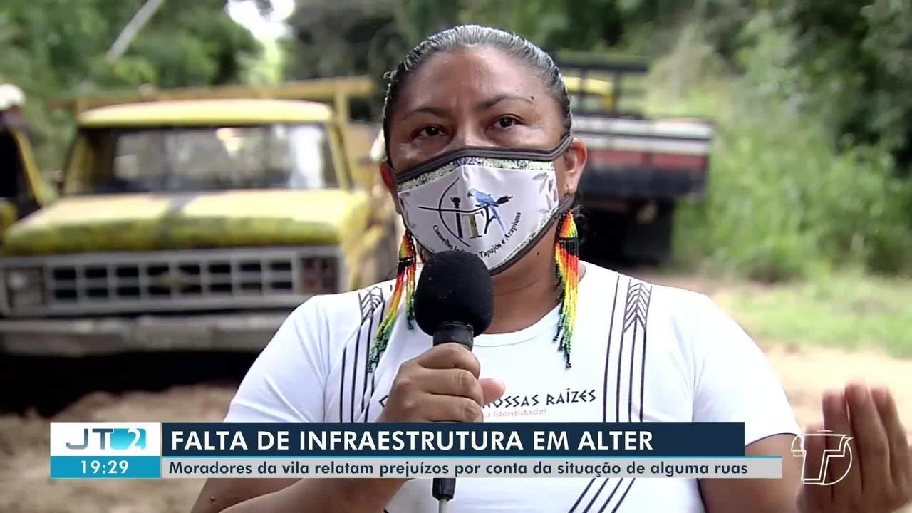 Moradores reclamam da falta de infraestrura em ruas de Alter do Chão