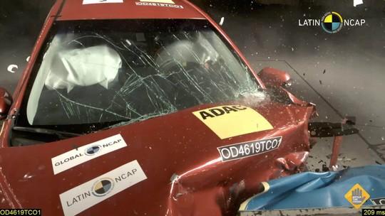 Toyota Corolla leva 5 estrelas em testes de colisão; novo Hyundai HB20 fica com 4