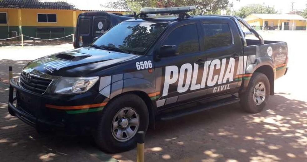 Polícia Civil prende mulher apontada como chefe de organização criminosa em Icapuí, no Ceará. — Foto: Polícia Civil/ Divulgação